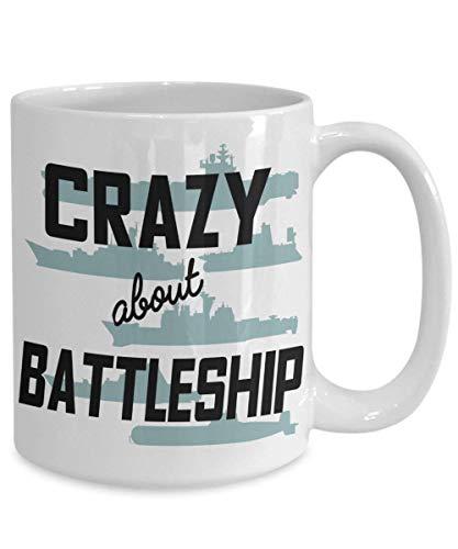 ChGuangm Crazy About Battleship Coffee Mug Gift for Board Game Player Fan Winner Big 11oz Ceramic Tea Cup