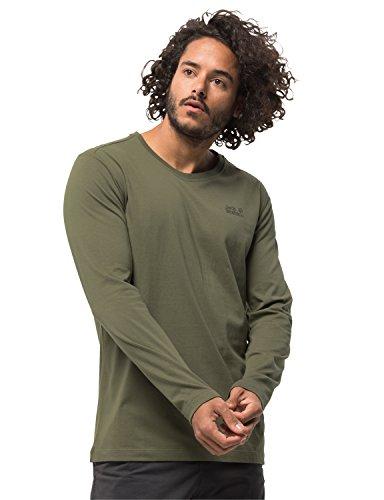 Jack Wolfskin Herren Essential Longsleeve Men Freizeitlongsleeve Langarmshirt, grün (woodland green), M -