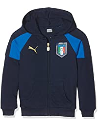 Puma FIGC Italia Tribute Sudadera 2006(con cremallera), infantil, Pullover FIGC Italia TRIBUTE 2006 Zipthrough Hoody, peacoat-Team power blue, 17 años (176 cm)