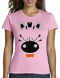 latostadora - Camiseta Cebra Chico para Mujer