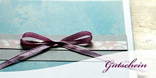 100 Gutscheine Gutscheinkarten Geschenkgutscheine – edel neutral Schleife