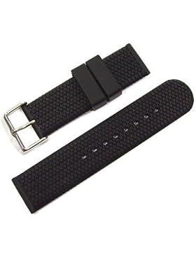 Original WCC® Kautschukband (schwarz) Dornschließe Bandanstoß 20 mm