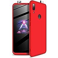 DYGG reemplazo para Funda Huawei P Smart Z 2019/Y9 Prime 2019 Thin Fit 360 Carcasa Exact Slim de protección Completa+ Protector de Pantalla, Rojo