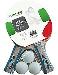 Tunturi Match - Set de raquetas y pelotas de tenis de mesa, multicolor