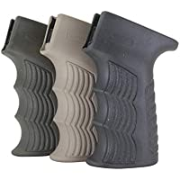 DLG Tactical Poignée AK 47/74 Soft Rubbered Grip DLG-098 Polymer with Storage Dark Earth