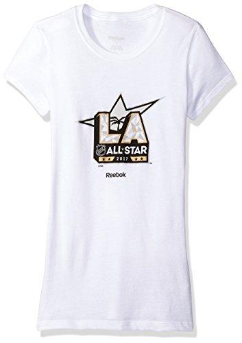 NHL Frauen der offizielle Logo Cap Sleeve Tee, Damen, 2017 NHL All-Star Her Official Logo Cap Sleeve Tee, weiß, Large -