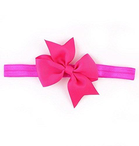 Flapper Hot Kostüm - ZEZKT-Girl Baby Kind Mädchen Prinzessin Kristalldiamant Stirnband Blumen Haar-Band Süßes Baby Headband Prinzessin Stretch Stirnbänder Babygeschenke Taufe Geschenk (Hot Pink)