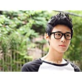 Fashion cool men fluffy short curly wig for boy brown BSM-2