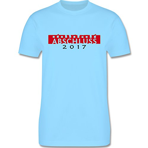 Abi & Abschluss - Abschluss 2017 - Herren Premium T-Shirt Hellblau