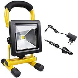 Morpilot 10 W LED foco portátil recargable Equivalente a Bulbo de halógeno de 60W 700LM,meable iluminación para segulidad trabajo exterior trabajo en la noche luces de emergencia acampar al aire libre probar mantenimiento pesca de la noche