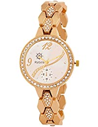 Rabela Women's Analogue White Dial Watch RAB-829