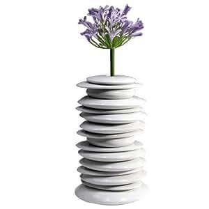 Industreal HULA HOOP, importante vaso o soprammobile in porcellana bianca smaltata
