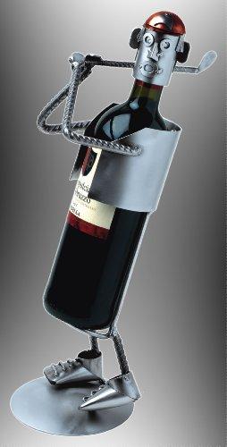 Boystoys HK Design Weinflaschenhalter Golf - Metall Art Weinflaschen-Deko & Golfergeschenke -...