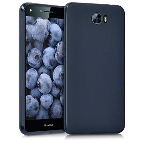 kwmobile Hülle TPU Silikon Case für > Huawei Y6 II Compact < - Handy Cover Schutzhülle in Dunkelblau matt