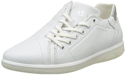 TBS Orrelie, Chaussures Lacées Femme Blanc (Blanc/Gris Métallique)