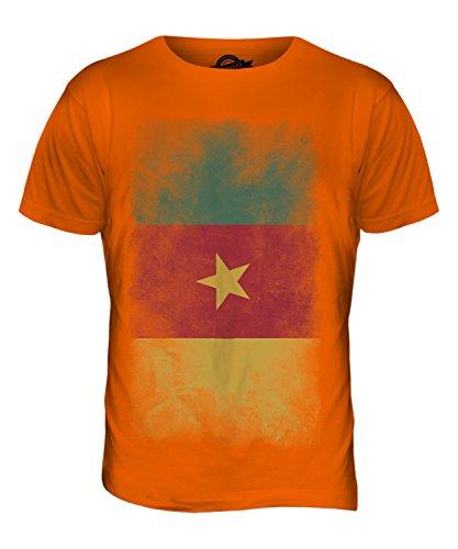 CandyMix Kamerun Verblichen Flagge Herren T Shirt Orange