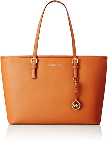 - 41SopUyFtmL - Michael Kors Shoulder Bag Multifunction Tote Jet Set Travel 30T5GTVT2L Orange