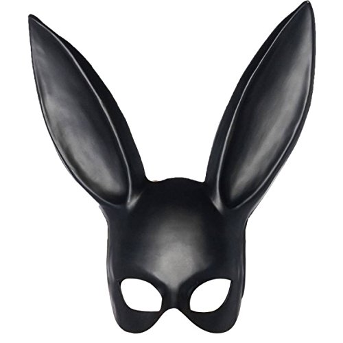 ny Masken Maskenmasken Hasenohrmasken Mädchenmasken,Black-36cm (Bunny Halloween Make Up)