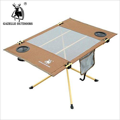 Chaises LDD Star Table Pliante en Plein air Peinture Acier Pipe Skeleton Voyage Pique-Nique Portable Petite Table carrée