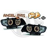 1290685, 1 Paar Angel Eyes Scheinwerfer, Schwarz, für X5 E53 von 1999 bis 2003