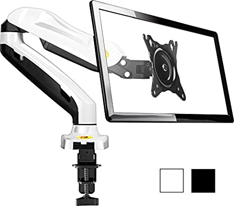 StandMounts Full Motion Desk Mount Bracket arm for Computer Monitors 17'' - 27 LED LCD Flat Panel TVs from 4.4 lbs upto 14.3 lbs with Gas Spring F80