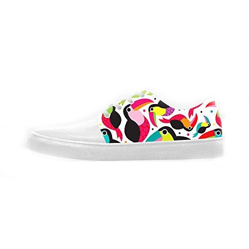 Dalliy Toucan Bird Cartoon Women's canvas Footwear Sneakers Shoes Chaussures de toile Baskets B