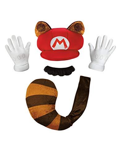 Generique - Super Mario Waschbär Set für Erwachsene - Waschbär Mario Kostüm