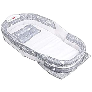 Runningfish Portable Sleeping Basket for Travel Baby Bed Cot Foldable Infant Sleeper with Music   10