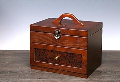 GFYWZ Medicine box Wooden Home Large Portable Sorting box Drug Storage box
