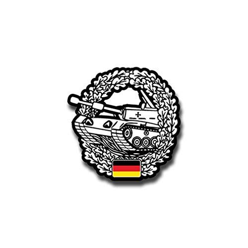 Aufkleber/Sticker Barettabzeichen Abzeichen Deutschland Barett 7x7cm A1420 -