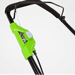 Greenworks Tondeuse à gazon sans fil 40 V avec batterie et chargeur Largeur de coupe 45 cm