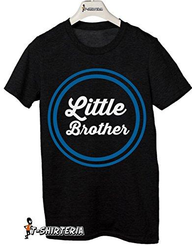 t-shirt Fratello e sorella humor  little brother - maglietta by tshirteria nero