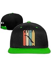 0415fc7bc7576 Sombrero del papá del algodón del Vintage de la Gorra de béisbol de la  Silueta de Cuba del Estilo Retro para Hombre…
