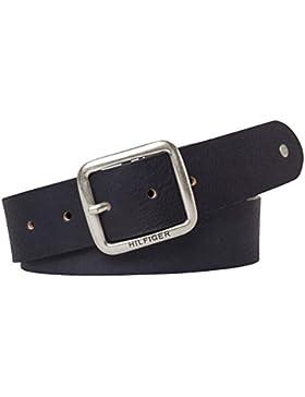 Tommy Hilfiger Damengürtel New Denton Regular Belt Blau Jeansgürtel Leder Gürtel Classic Ledergürtel