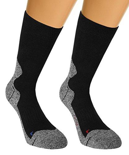 Vitasox 42965 Damen & Herren Outdoor Socken Funktionssocken Trekkingsocken Wandersocken Sportsocken Schwarz 4er Set 35/38