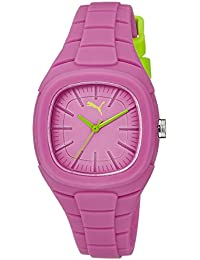 Puma Bubble Gum - Small Unisex Quartz Watch with Pink Dial Analogue Display and Pink Silicone Strap PU102882003