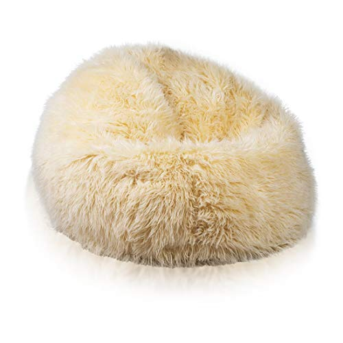 Ecopuf Sakwa L Shaggy Armlehnstuhl, aus Künstliches Fell,Perfekte Passform für Country Interiors,...