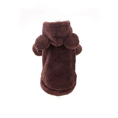H.JPT Haustier-Kleidung4 Winter Colors Pet Clothes Warm Soft Knitting Pet Dog Vest Sweater Small Medium Cats Pattern Classic (Color : Pink Rabbit, Size : (Rabbit Tail Kostüme)