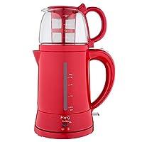King Ev Aletleri 8500 Teamax Otomatik Çay Makinesi, 1.8 L, Plastik, Kırmızı