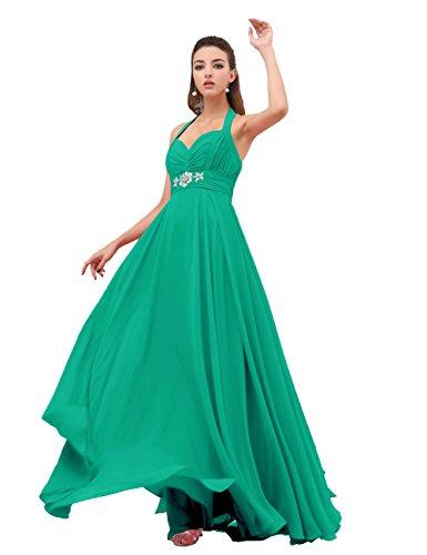 Dresstells, gaine / colonne v-cou-parole longueur Robe de Demoiselle d'Honneur en Mousseline de Soie Vert