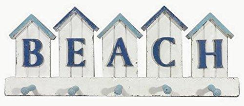 Garderobe BEACH aus Holz - 5 Haken - Shabby Vintage Look