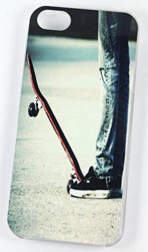 Skateboard Stance (Housse/Etui rigide en plastique pour iPhone 5/5S Transparent