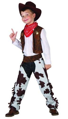 Generique Cowboy-Kostüm Deluxe für Jungen 104/116 (4-6 Jahre)