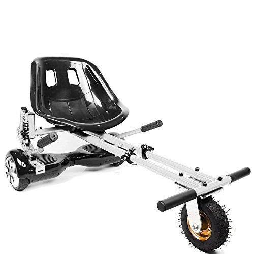 New Style 2018Modell 2018 - Der Hoverkart-Kartaufsatz für Hoverboards, als Hoverboard-Zubehör mit Geländereifen vorne–passend für 2-Rad Selbstbalance-Hoverboards mit 16,5cm, 20,3cm und 25,4cm. In 4Farben zur Auswahl., weiß