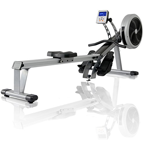 JTX Freedom Air Rower: Foldable Superior Rowing Machine + Wireless Chest Strap. 2 YEAR IN-HOME SERVICE WARRANTY