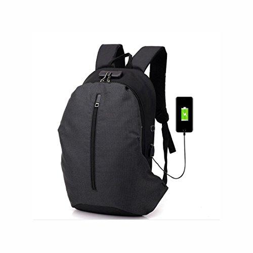Reise-Laptop-Rucksack, Passwort-Sperre Anti-Diebstahl-Laptop-Rucksack, große Kapazität multifunktionale Mode Business Travel Laptop-Rucksack mit USB-Lade-Schnittstelle und Kopfhörer-Jack für Frauen un