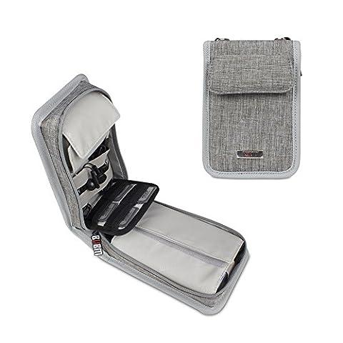 BUBM Nintendo nouveau jeu de consoles 3DS paquet sac bandoulière nouveau 3DS LL / XL sacoche de rangement Travel Storage - (gris)