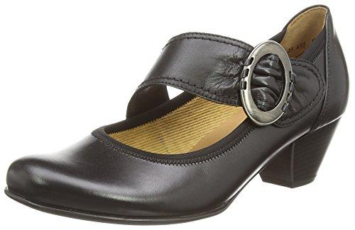 Gabor Galaxy, Scarpe modello Mary Jane, da Donna, Colore Nero (Black Leather), Taglia 42.5 EU (8.5 UK)