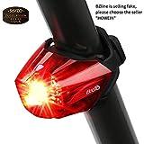 Fahrrad Rücklicht, BIGO StVZO Zugelassen Ultra Hell LED USB Aufladbar Wasserdichte Fahrradlicht Fahrradbeleuchtung Fahrradlampe Aufladbar Fahrradrücklicht Fahrradhelme Lichter …