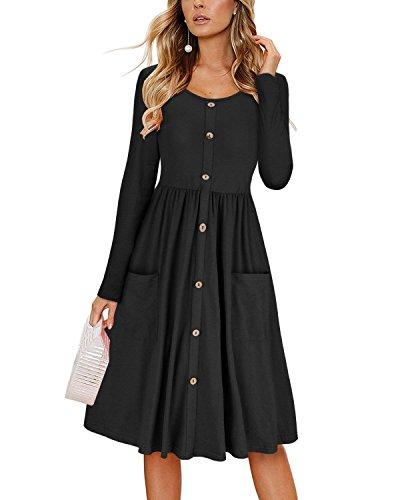 Lantch Sommerkleider Damen Kurzarm V-Ausschnitt Strand Kleider Elegant Vintage Abendkleid Knielang...